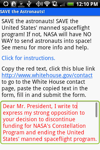 SAVE the Astronauts
