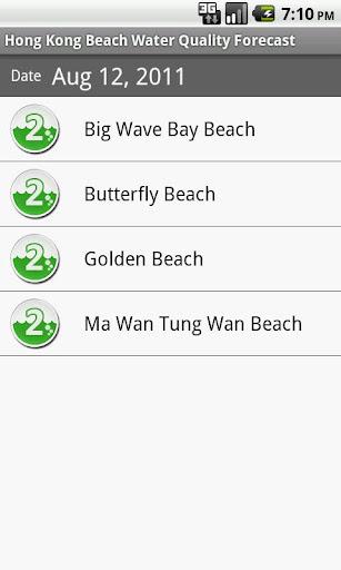 香港泳灘水質預報