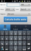 Screenshot of Bollo e superbollo auto cv/kw