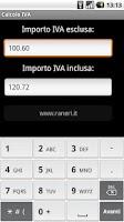 Screenshot of Calcolo IVA