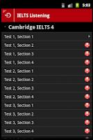 Screenshot of IELTS English Listening