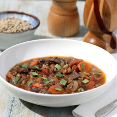 Slow Carb Beef and Lentil Stew