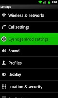 Screenshot of Galaxy Green for CM7 (Donate)