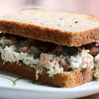 Crunchy Chicken Salad Sandwiches with Bacon