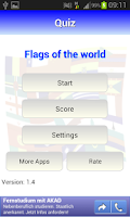 Screenshot of Quiz: Flags of the world