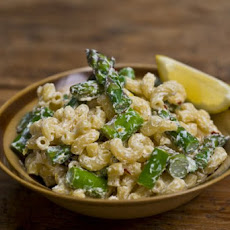 Goat Cheese and Asparagus Macaroni Salad