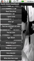 Screenshot of Charlie Sheen Soundboard