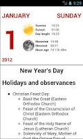 Screenshot of Events calendar