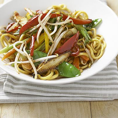 Noodles With Stir-fried Chilli Veg