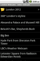 Screenshot of London Webcams