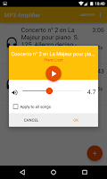 Screenshot of MP3 Amplifier