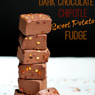 Dark Chocolate Chipotle Sweet Potato Fudge
