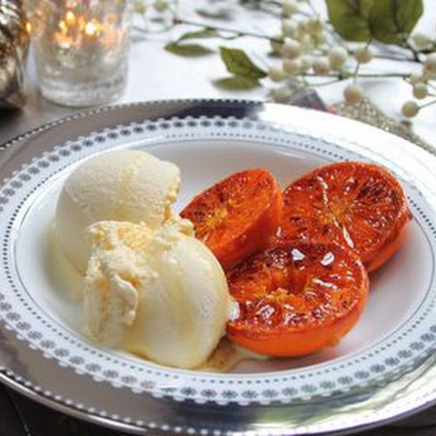 Spiced Brandy Ice Cream with Caramelised Clementines
