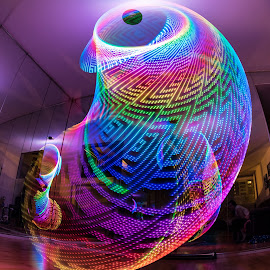 Hula Hooping with Mirrors by Brady Call - Abstract Light Painting