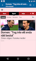 Screenshot of Sweden News