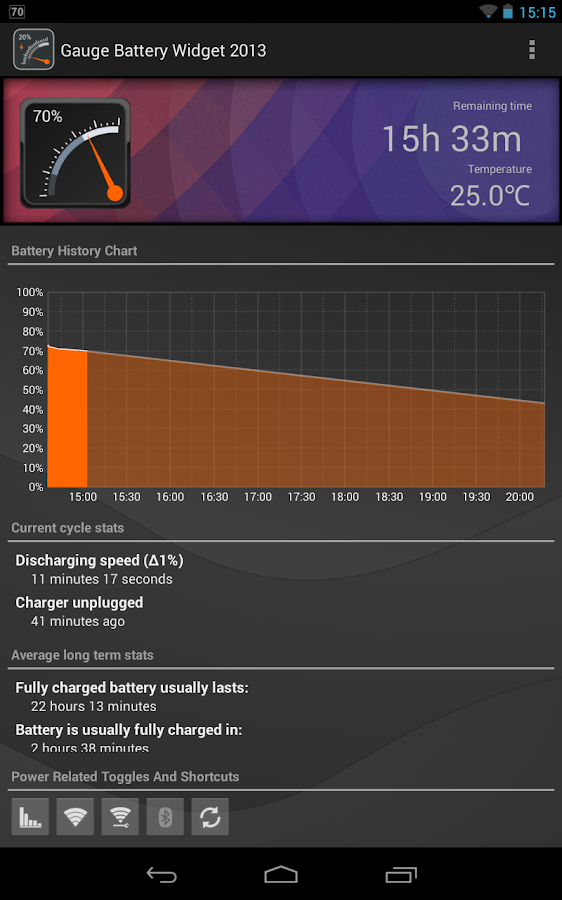 Gauge Battery Widget 2016 Screenshot 11