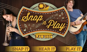 Screenshot of SnapNPlay music Demo