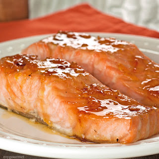 Orange and Bourbon Glazed Salmon