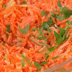 Carrot, Green Apple and Mint Salad