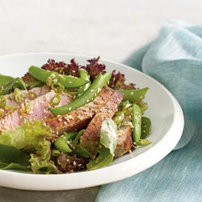 Seared Ahi Tuna Salad With Fresh Snap Peas