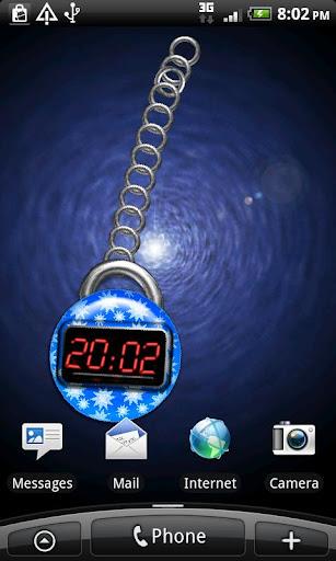 藍色數字時鐘