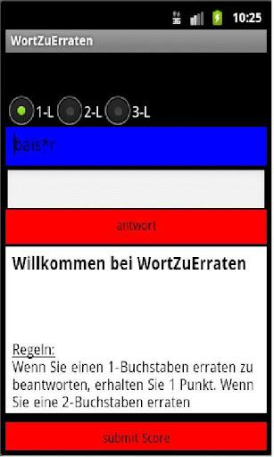 WortZuErraten