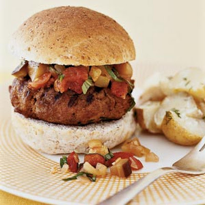 Turkey Burgers With Quick Ratatouille