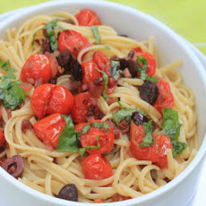 Linguine With Oven-Roasted Tomato Puttanesca