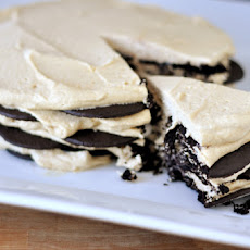 Chocolate Peanut Butter Wafer Cream Cake