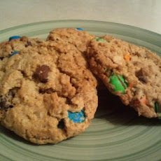 Chewy Red, White, and Blue M&m Cookies