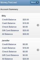 Screenshot of MoneyTrail Allowance Tracker