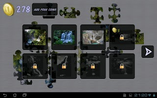 Screenshot of Waterfalls Puzzle