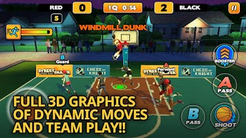 Screenshot of Street Dunk 3 on 3 Basketball