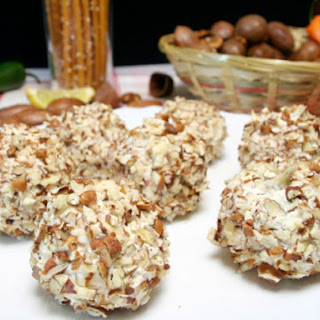 Almond and Chevre Cheese Balls