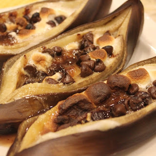 Grilled Bananas With Chocolate And Marshmallow Recipes