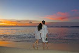 Romance: A couple at sunset