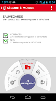 Screenshot of SFR Sécurité Mobile