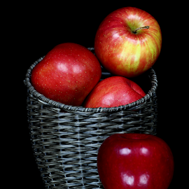 Red Apples by Dipali S - Food & Drink Fruits & Vegetables ( fruit, diet, bright, texture, refreshment, agriculture, delicious, nutrition, red, fresh, color, apple, food, healthy, freshness, vegetarian, group, shiny )
