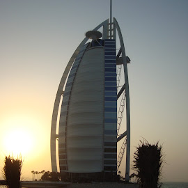 Sunset by the burj by Shelina Khimji - Buildings & Architecture Office Buildings & Hotels ( sunset, burj al arab, burj, hotel,  )
