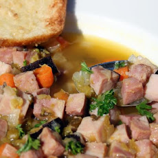 Country Style Smoked Sausage, Ham and Split Pea Soup