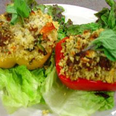 Spring Couscous Stuffed Bell Peppers