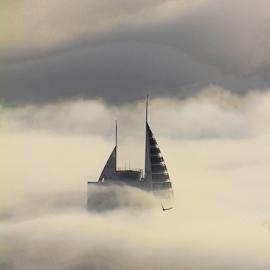 Chamsim in the Morning by Renée Politzer Nass - City,  Street & Park  Vistas ( fog, weather, haifa, morning, chamsim,  )