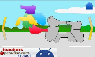 Screenshot of Cars and Trucks! Shape Puzzles