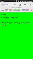 Screenshot of Pad+ a simple notepad