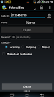 Screenshot of Fake Call & SMS & Call Logs