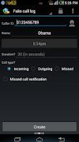 Screenshot of Fake Call & SMS & Call Logs