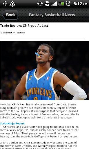 Fantasy Basketball Feed