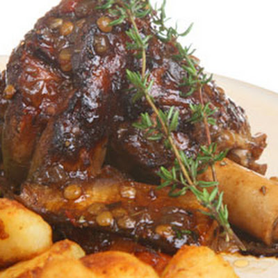 Braised Red Wine and Rosemary Lamb Shanks