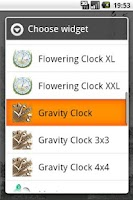 Screenshot of Gravity Clock