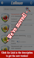Screenshot of tellows App (old version)